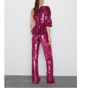 Zara Pants - Zara flares sequin pants